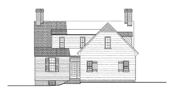 Cape Cod Colonial House Plan 86324 Rear Elevation