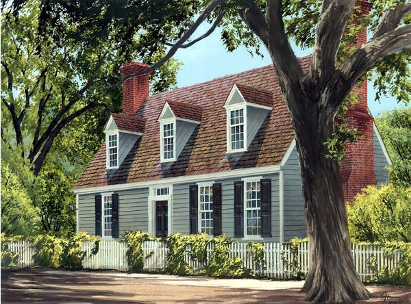 Cape Cod Colonial Traditional House Plan 86325 Elevation