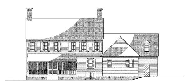 Colonial House Plan 86329 Rear Elevation
