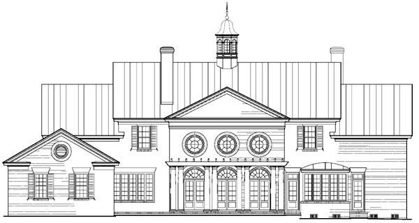 Plantation Southern House Plan 86331 Rear Elevation