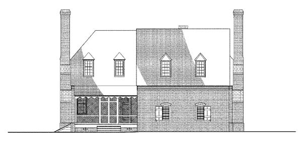 Colonial House Plan 86332 Rear Elevation