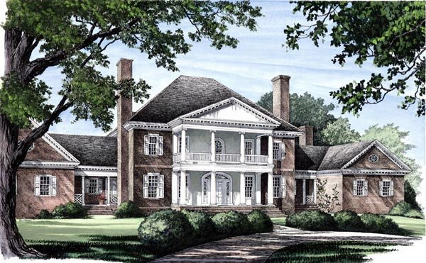 Colonial Plantation House Plan 86333 Elevation