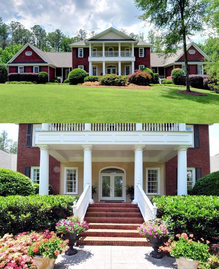 Colonial plantation house plan 86333 for Plantation modular homes