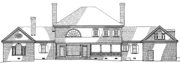 Colonial Plantation House Plan 86333 Rear Elevation