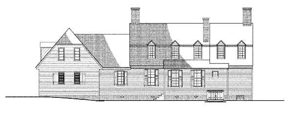 Colonial , Traditional House Plan 86334 with 4 Beds, 4 Baths, 2 Car Garage Rear Elevation
