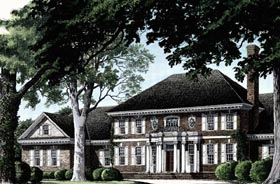 Colonial Plantation House Plan 86335 Elevation