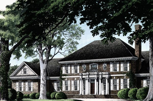 Colonial , Plantation House Plan 86335 with 5 Beds, 7 Baths, 3 Car Garage Elevation
