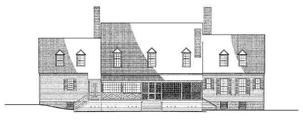 Colonial Plantation Traditional House Plan 86336 Rear Elevation