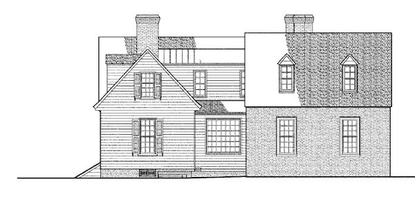 Colonial Traditional House Plan 86339 Rear Elevation