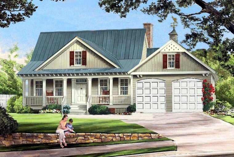 Cottage Country Farmhouse Elevation of Plan 86341