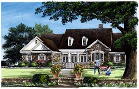 Traditional House Plan 86343 with 4 Beds, 4 Baths, 3 Car Garage Elevation