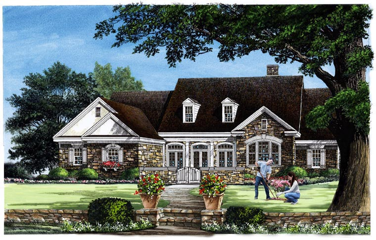 Traditional House Plan 86343 Elevation