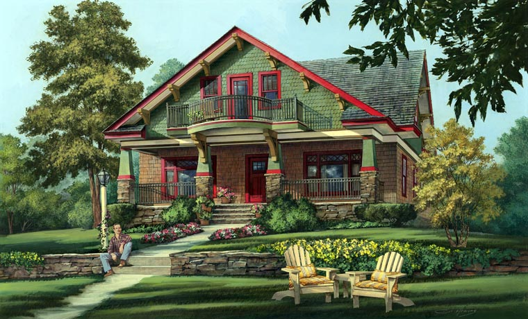 House Plan 86346 | Bungalow Cottage Country Craftsman Style Plan with 2841 Sq Ft, 5 Bedrooms, 4 Bathrooms, 2 Car Garage Elevation