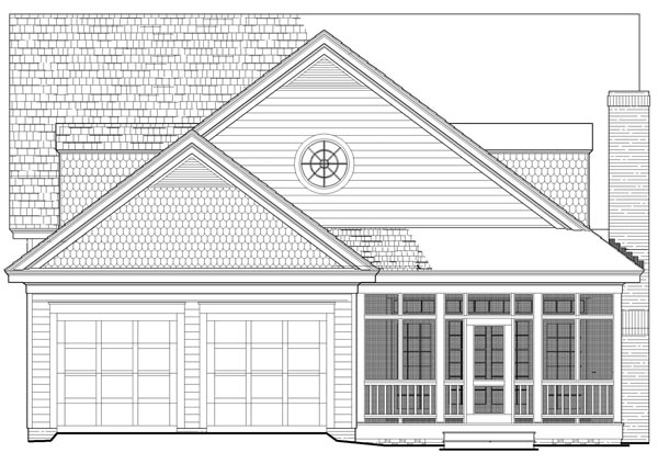 House Plan 86346 | Bungalow Cottage Country Craftsman Style Plan with 2841 Sq Ft, 5 Bedrooms, 4 Bathrooms, 2 Car Garage Rear Elevation