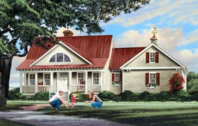 House Plan 86347 | Country, Ranch, Southern Style House Plan with 2533 Sq Ft, 4 Bed, 4 Bath, 2 Car Garage Elevation