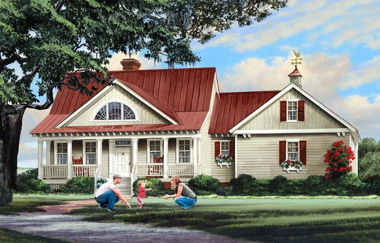 Country Ranch Southern House Plan 86347 Elevation