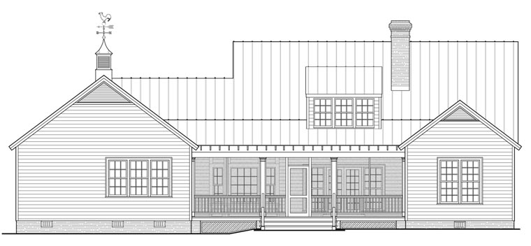 Country Ranch Southern House Plan 86347 Rear Elevation