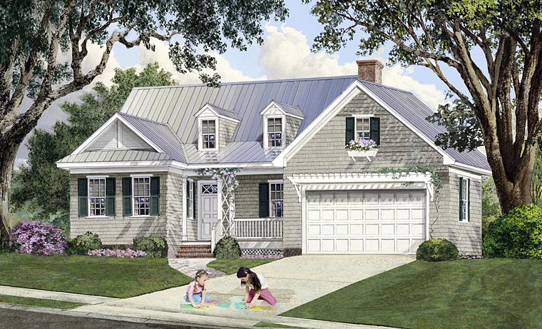Cape Cod , Cottage , Country , Craftsman , Southern House Plan 86348 with 4 Beds, 4 Baths, 2 Car Garage Elevation