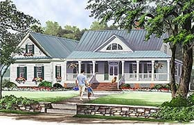 Southern , Farmhouse , Country , Cottage House Plan 86351 with 3 Beds, 3 Baths, 2 Car Garage Elevation