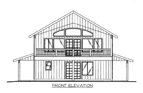 House Plan 86500 Elevation