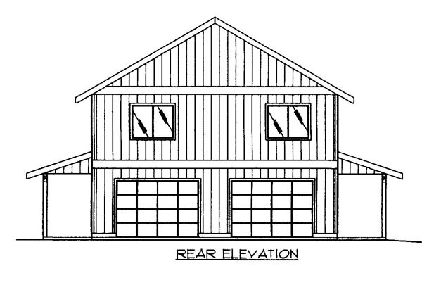 House Plan 86500 Rear Elevation