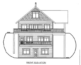 House Plan 86501 with 3 Beds, 3 Baths Elevation