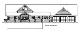 House Plan 86502 with 3 Beds, 3 Baths, 3 Car Garage Elevation