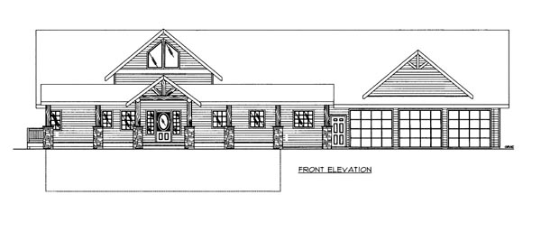 House Plan 86502 Elevation
