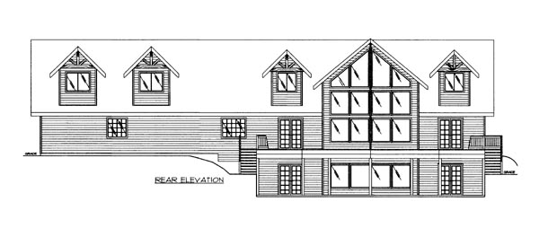 House Plan 86502 Rear Elevation