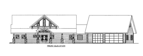 House Plan 86503 Elevation