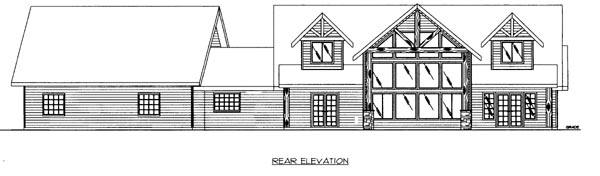 House Plan 86503 Rear Elevation