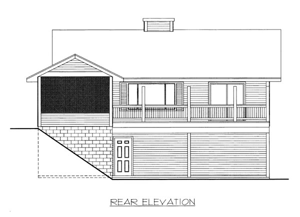 House Plan 86506 Rear Elevation