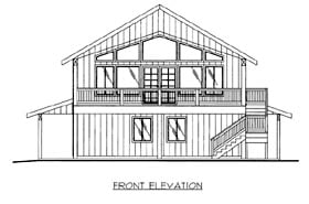 House Plan 86507 Elevation