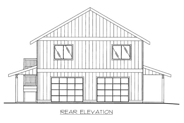 House Plan 86507 Rear Elevation