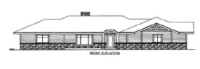 House Plan 86508 Elevation