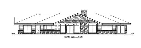 House Plan 86508 Rear Elevation