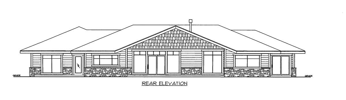 House Plan 86509 Rear Elevation