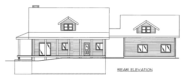 House Plan 86510 Rear Elevation