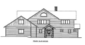 House Plan 86511 Elevation