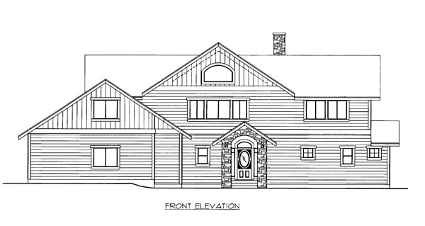 House Plan 86511 Elevation