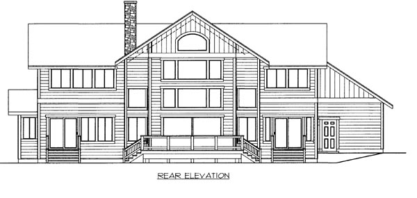 House Plan 86511 Rear Elevation