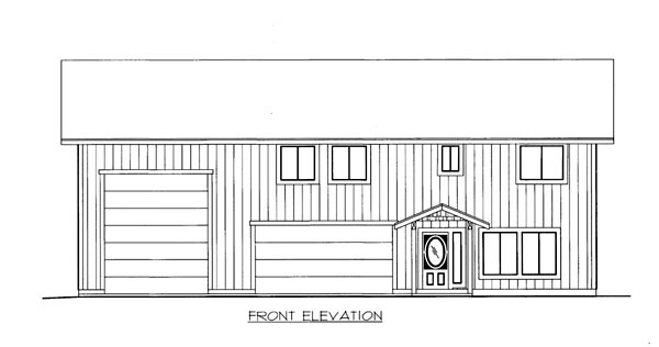 House Plan 86512 Elevation
