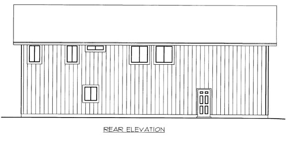 House Plan 86512 Rear Elevation