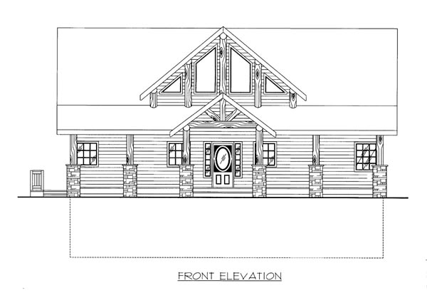 House Plan 86513 Elevation