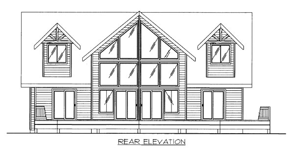 House Plan 86513 Rear Elevation