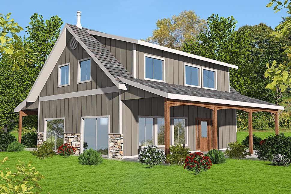 House Plan 86515 | Style Plan with 1978 Sq Ft, 2 Bedrooms, 2 Bathrooms, 2 Car Garage Elevation