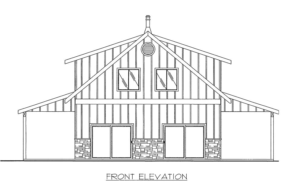 House Plan 86515 with 2 Beds, 2 Baths, 2 Car Garage Picture 1