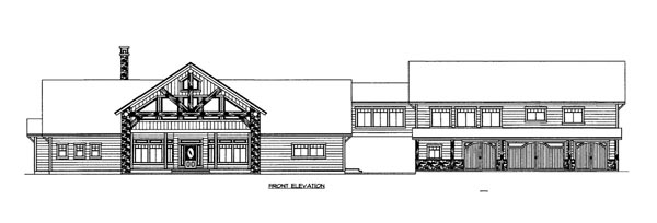 House Plan 86516 Elevation