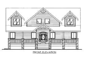 House Plan 86517 with 4 Beds, 3 Baths Elevation