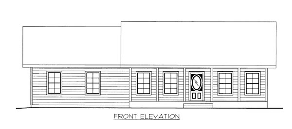 House Plan 86518 Elevation